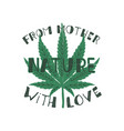 from mother nature with love poster canada vector image