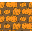 halloween pumpkin pattern brown background vector image vector image