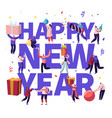 happy new year celebration concept tiny male and vector image vector image