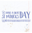 lettring for saint patricks day vector image vector image