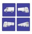 logistics truck set vector image vector image
