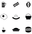 lunch icon set vector image vector image