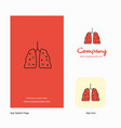 lungs company logo app icon and splash page vector image vector image
