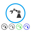 manipulator rounded icon vector image