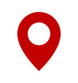 map pin red flat design style modern icon pointer vector image vector image