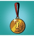 Medal for first place vector image vector image