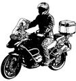 motorcyclist 2 vector image vector image