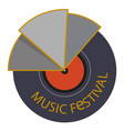 music festival vinyl disc background image vector image