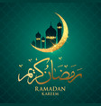 muslim feast of the holy month of ramadan kareem vector image