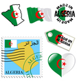 national colours of Algeria vector image vector image