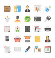 office and internet icons vector image