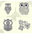 ornamental owl Bird vector image vector image
