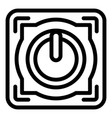 power off button icon outline style vector image