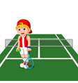 professional tennis player vector image vector image