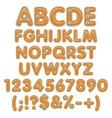 pumpkin pie alphabet letters numbers vector image