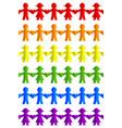 rainbow flag made people vector image