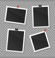 realistic detailed 3d photo frame set vector image