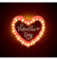Retro shining banner for Valentines day vector image vector image