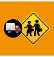 school warning traffic sign concept vector image