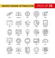 search engine optimization black line icon - 25 vector image