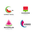 set abstract watermelon symbol logo for healthy vector image