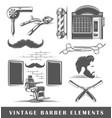 set of elements of the barbershop vector image