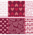 set of hearts seamless patterns vector image vector image