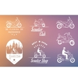Set Vintage Sign and Logos Scooter vector image vector image