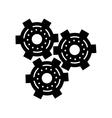 silhouette set gear wheel engine cog icon vector image vector image