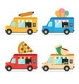 Street Fast Food Truck Set vector image vector image