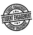 student engagement round grunge black stamp vector image vector image