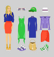 summer mode of woman set vector image vector image