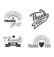 Thank you text lettering badge vector image