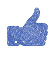 thumb up sketch vector image vector image
