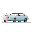 traffic accident car collision with road vector image vector image
