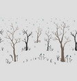 trees first snow winter christmas landscape vector image vector image