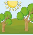trees landscape design vector image vector image