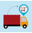truck delivery cargo pin vector image vector image