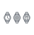 watch repair icons vector image vector image