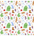 winter icons pattern vector image vector image