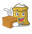 with box flour character cartoon style vector image vector image