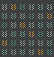 woodland arrows on dark seamless pattern vector image vector image