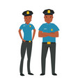 young african american police vector image vector image