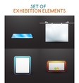 Exhibition design collection vector image