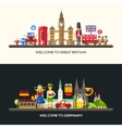 Germany Great Britain travel banners set with vector image