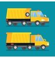 Yellow mining truck Construction transport vector image