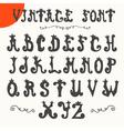 Hand drawn vintage font alphabet vector image