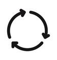 3 arrows rotation icon vector image vector image
