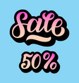 a sale discount set with 50 percents and volume 3d vector image vector image