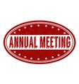 annual meeting grunge rubber stamp vector image